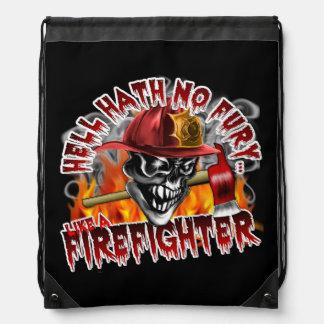 Cráneo 5 del bombero con el hacha mochilas