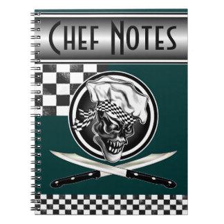 Cráneo 5 del cocinero cuaderno