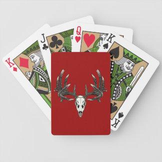 Cráneo 5 del venado de cola blanca barajas de cartas
