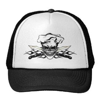 Cráneo 6 del cocinero gorra