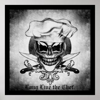 Cráneo 6 del cocinero póster