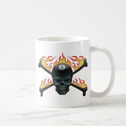 Cráneo 8 el flamear taza de café