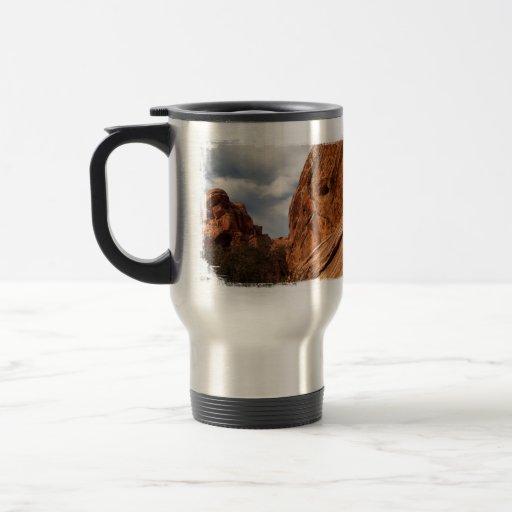 Cráneo a la izquierda tazas de café