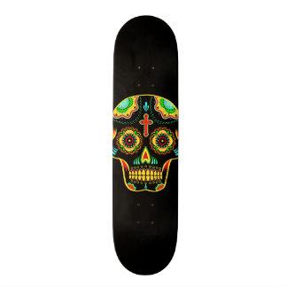 Cráneo a todo color del azúcar tablas de patinar