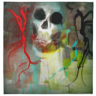 Cráneo abstracto servilleta