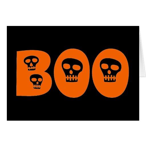 "Cráneo ""abucheo "" de Halloween Tarjeta De Felicitación"