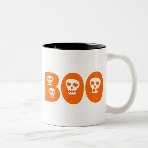 """Cráneo """"abucheo """" de Halloween Taza De Café"""
