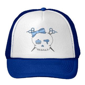 Cráneo accesorio del pelo azul (Scissor la bandera Gorro