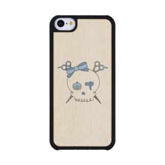 Cráneo accesorio del pelo azul - Scissor la Funda De iPhone 5C Slim Arce