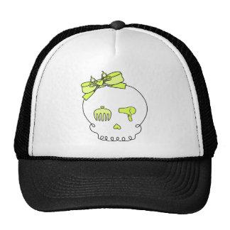 Cráneo accesorio del pelo (lazo - amarillo) gorras de camionero