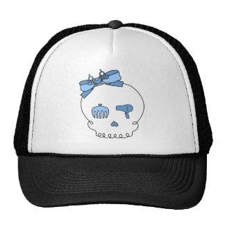 Cráneo accesorio del pelo (lazo - azul) gorra