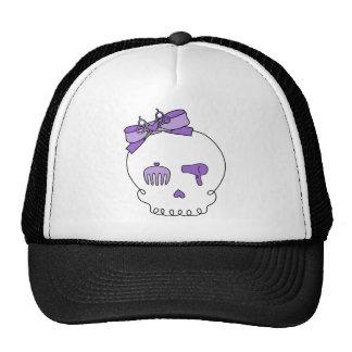 Cráneo accesorio del pelo (lazo - púrpura) gorras de camionero