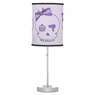 Cráneo accesorio del pelo (lazo - púrpura) lámpara de escritorio