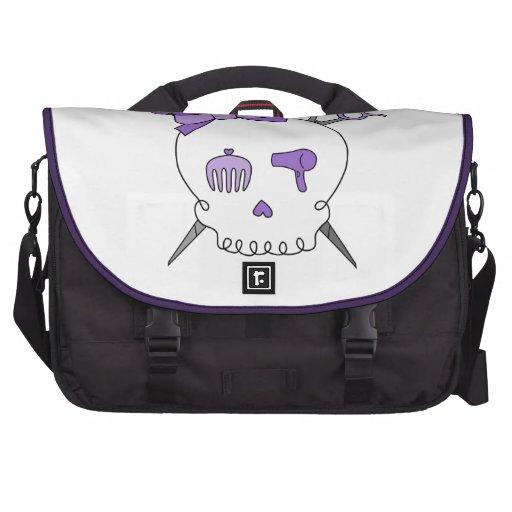 Cráneo accesorio del pelo púrpura - Scissor la ban Bolsas Para Ordenador