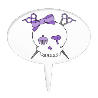 Cráneo accesorio del pelo púrpura - Scissor la Figuras Para Tartas