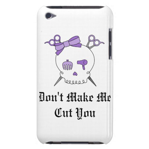 Cráneo accesorio del pelo púrpura - Scissor la iPod Touch Case-Mate Protectores