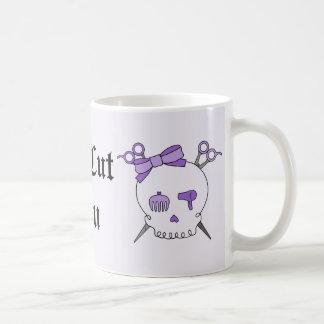Cráneo accesorio del pelo púrpura - Scissor la Taza Clásica