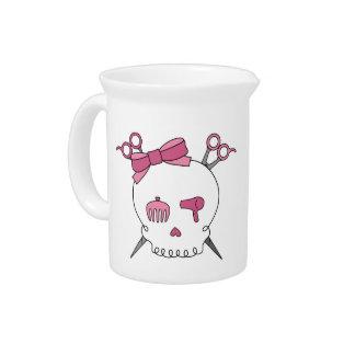 Cráneo accesorio del pelo rosado - Scissor la band Jarras Para Bebida