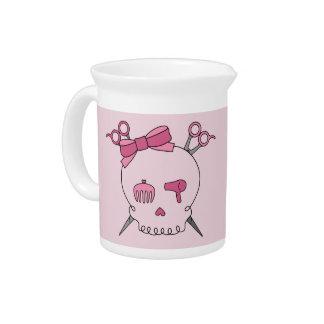 Cráneo accesorio del pelo rosado - Scissor la band Jarrón