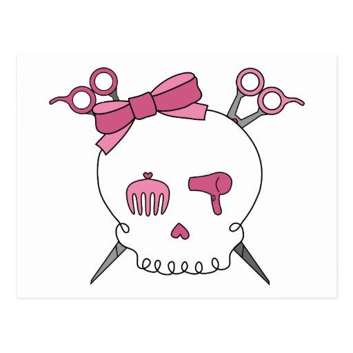 Cráneo accesorio del pelo (Scissor la bandera Postales