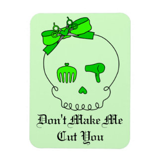 Cráneo accesorio del pelo (verde del lazo con el iman
