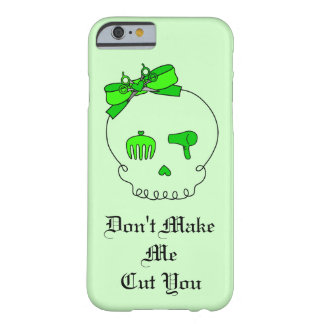 Cráneo accesorio del pelo (verde lima del lazo #4) funda de iPhone 6 barely there
