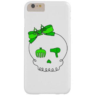 Cráneo accesorio del pelo (verde lima del lazo) funda de iPhone 6 plus barely there