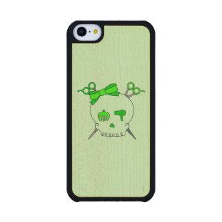 Cráneo accesorio del pelo verde - Scissor la Funda De iPhone 5C Slim Arce