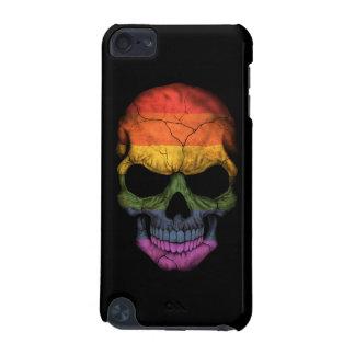 Cráneo adaptable con la bandera del arco iris del funda para iPod touch 5G