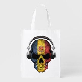 Cráneo adaptable de andorrano DJ con los Bolsa Para La Compra