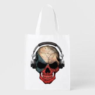 Cráneo adaptable de Checo DJ con los auriculares Bolsas Reutilizables