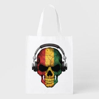 Cráneo adaptable de DJ de Guinea con los Bolsas Reutilizables