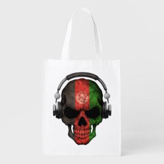 Cráneo adaptable de DJ del afgano con los Bolsa De La Compra