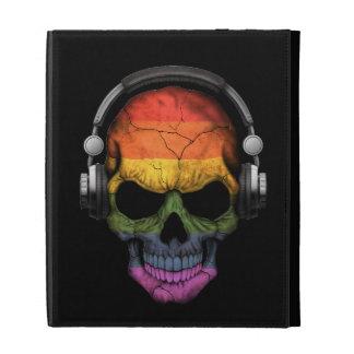 Cráneo adaptable de DJ del arco iris del orgullo