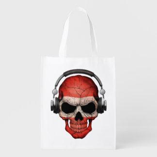 Cráneo adaptable de DJ del austriaco con los Bolsas Para La Compra