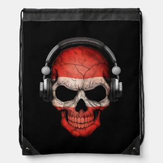 Cráneo adaptable de DJ del austriaco con los Mochilas