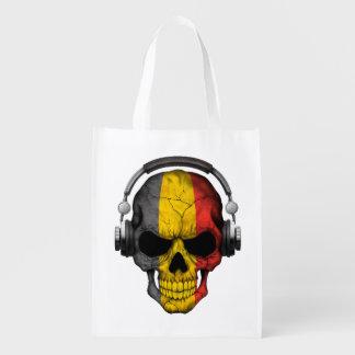 Cráneo adaptable de DJ del belga con los Bolsa Para La Compra