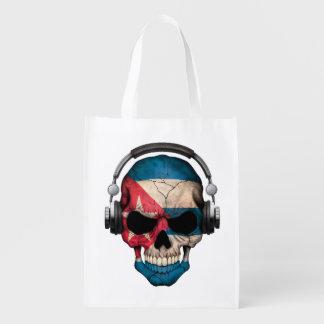 Cráneo adaptable de DJ del cubano con los Bolsas Reutilizables