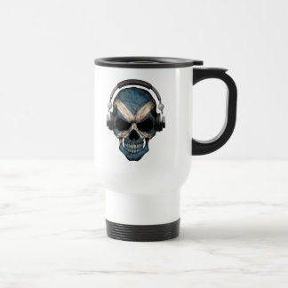Cráneo adaptable de DJ del escocés con los Tazas De Café