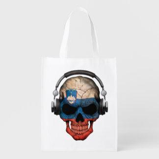 Cráneo adaptable de DJ del esloveno con los Bolsa Reutilizable