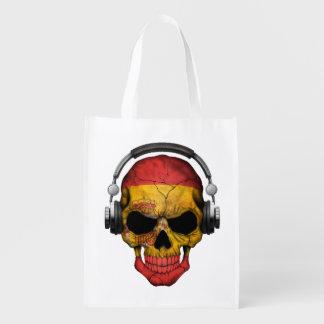 Cráneo adaptable de DJ del español con los Bolsas Reutilizables