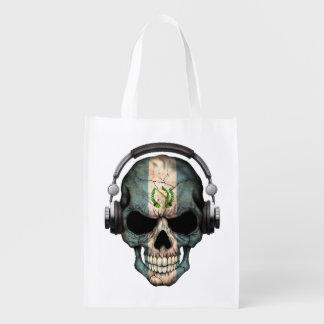 Cráneo adaptable de DJ del guatemalteco con los Bolsa Para La Compra