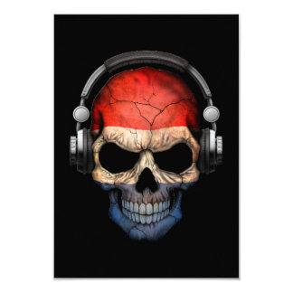 """Cráneo adaptable de DJ del holandés con los Invitación 3.5"""" X 5"""""""