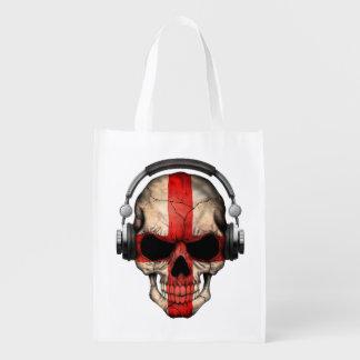 Cráneo adaptable de DJ del inglés con los Bolsa De La Compra