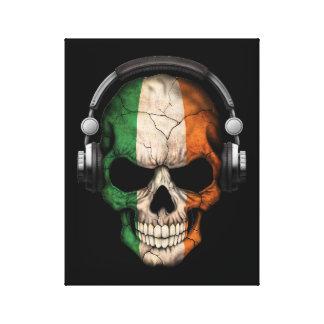 Cráneo adaptable de DJ del irlandés con los Impresiones En Lienzo Estiradas