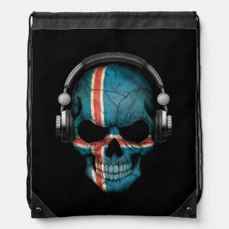 Cráneo adaptable de DJ del islandés con los Mochilas