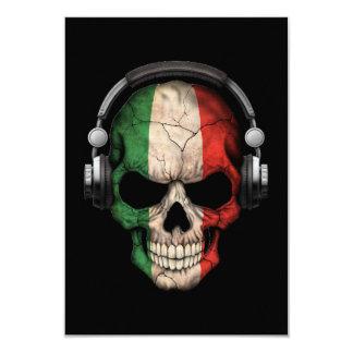 """Cráneo adaptable de DJ del italiano con los Invitación 3.5"""" X 5"""""""