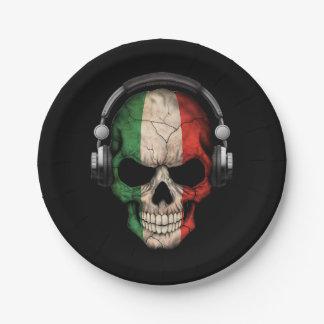 Cráneo adaptable de DJ del italiano con los Plato De Papel 17,78 Cm