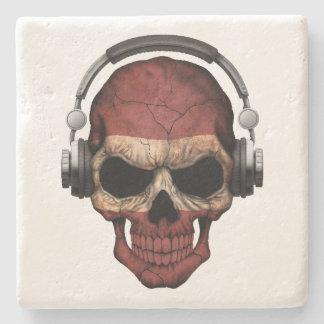 Cráneo adaptable de DJ del Latvian con los Posavasos De Piedra