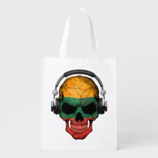 Cráneo adaptable de DJ del Lithuanian con los Bolsa De La Compra